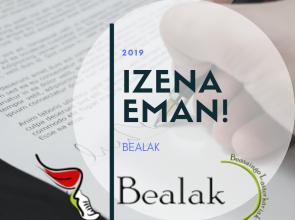 BEALAK  TALDEAN  IZENA  EMAN